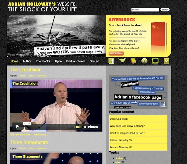 The Shock of your life Homepage Screenshot